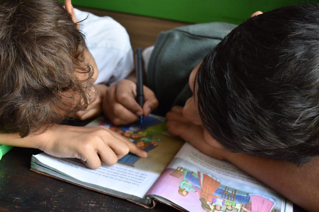 children at homeschool